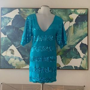 Express Sequin Sweater Dress New Sz Small